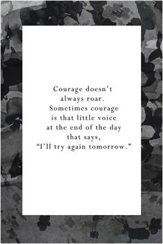 courage doesn't always roar motivational quote printable
