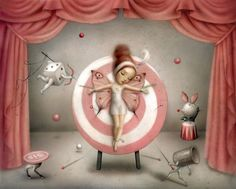 The Magicians Assistant by Nicoletta  Ceccoli