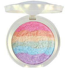 Makeup Rainbow Highlighter Eyeshadow Palette Baked Blush Terrece... (145 CNY) ❤ liked on Polyvore featuring beauty products, makeup, beauty, fillers and palette makeup