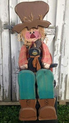 Cute scarecrow wood craft