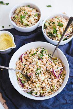 White Bean & Barley Salad With Greek Vinaigrette