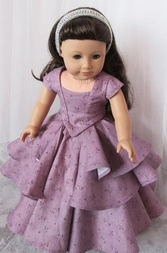 Bella Rose Ball Gown 18 American Doll Dress