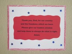 July 4th - Prayer for Our Country - Art Project