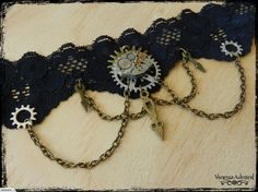 Steampunk Vintage Bronze Clockwork Choker Necklace for sale on Trade Me, New Zealand's auction and classifieds website Gothic Jewelry, Steampunk, Crochet Necklace, Chokers, Bronze, Vintage, Jewels, Goth Jewelry, Vintage Comics