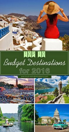 TOP 10 Budget Destinations for 2016 #budgettravel #travel                                                                                                                                                      More