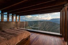 Casa Los Algarrobos. Perched on the moutains of Puembo, Ecuador, this 8,966-square-foot (833m2) house is yet another dream home to live in and have peace, food, and sex forever. The views, the materials, the distribution—I like it all. But it's that bedroom that took my heart away. I want to wake up there so badly.