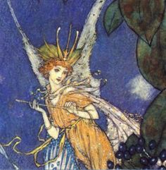 The Fairiy Queen by Edmund Dulac.  Another wonderful artist in old children's books.