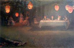 Thomas Cooper Gotch, A Night in June, 1910