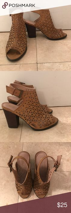 Restricted Brown Booties Super comfortable and only worn once! Only selling because haven't worn them in about a year and need to clean out my closet. Restricted Shoes Ankle Boots & Booties