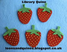 Loons and Quines @ Librarytime: Flannel friday - Five Ripe Strawberries