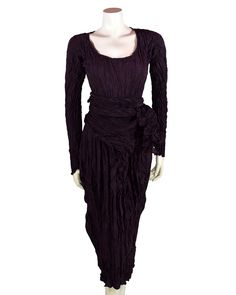 54f48a6c831d Privatsachen Crushed Silk Dress Dark Violet winter 2016 70515