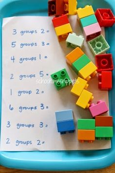Hands-on Multiplication with Legos at School Time Snippets
