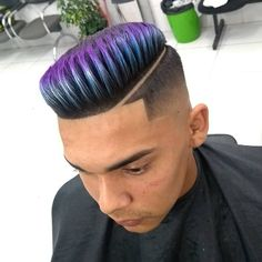 Baddie Hairstyles, Boy Hairstyles, Turquoise Highlights, Pompadour, Barber Shop, Hair Cuts, Hair Color, Dreadlocks, Hair Styles