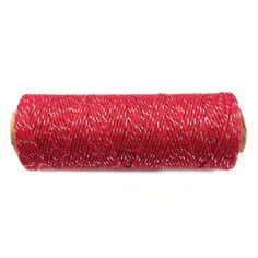 Wrapables 4-Ply Cotton Baker's Twine, 110-Yard, Red/Metallic Silver. Available in a variety of colors. Use them for scrapbooking, gift tags, wrapping packages, party decor, or any arts and crafts project. Dimensions: 4 Ply, 110 Yards. Material: 100% eco-friendly and bio-degradable cotton.