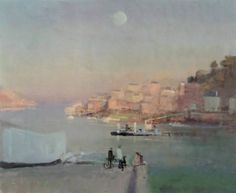 Dawn Ferry Fowey 61x61cm
