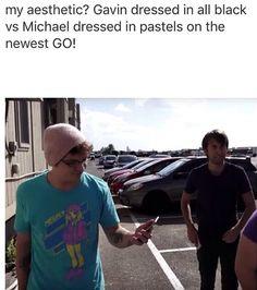 Pastel Michael and dark Gavin Mavin