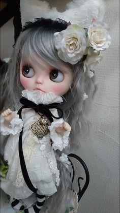 カスタムブライス「Sweet cat♪」白猫 春 アニマル|ayuのすきなものブログ