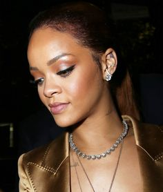 Rihanna wearing some badass frosting at the BET Awards in Los Angeles