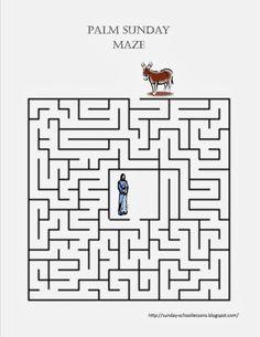 Palm Sunday Maze - Sunday School Activities - Print this FREE maze!