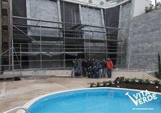 Finished #Vitaverde #VerticalGarden - biggest outdoor garden in Greece *Technology of Paisajismo Urbano