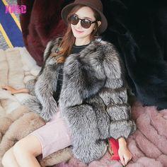 >> Click to Buy << European Style Winter Fashion Elegant Warm Three Quarter Sleeve Outwear Real Fox Fur Coat XHSD-063 #Affiliate