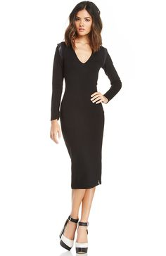 DailyLook: One Teaspoon Jetson Pencil Dress in Black XS - L