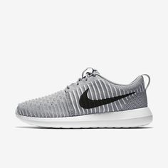 new product 804df 7a7f5 Nike Roshe Two Flyknit Wolf Grey White Gamma Blue Black Mens Shoe