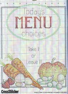 Menu Cross Stitch
