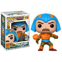 From the classic cartoon Master of the Universe, Man-At-Arms, as a stylized pop vinyl from Funko! figure stands 3 3/4 inches and comes in a window display box. Check out the other Master of the Universe figures from Funko! collect them all!