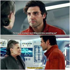 Star Wars: The Last Jedi (2017) dir. Rian Johnson #star wars#leia organa#poe dameron