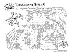 Treasure Hunt Maze Illustrated by Tim van de Vall
