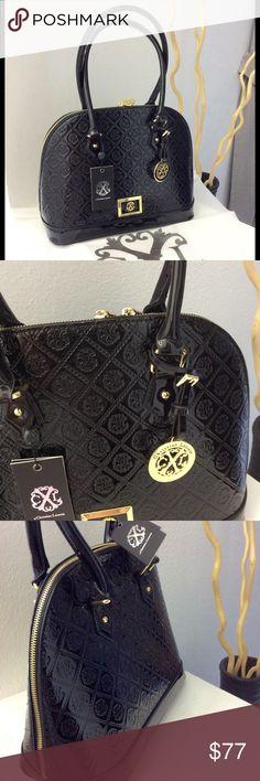"🔴 🔴 LAST CHANCE 🔴🔴🔴New Handbag 14 ""x 10.5"" /Patent leather Chistian Lacroix Bags"