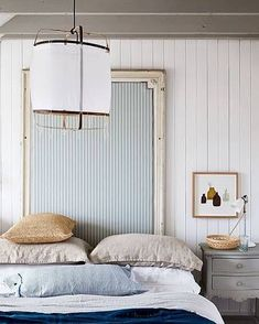 She's Darling Headboard Inspo Natural Linen, Shades Of Blue, Interior Design, Bed, Room, Furniture, Home Decor, Nest Design, Bedroom