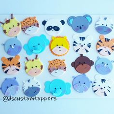 The updated version of my jungle/safari animals cupcake toppers.