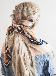 Cool And Must-Have Summer Hairstyles For Women; Must-Have Summer Hairstyles; Summer Hairstyles For Women; Spring Hairstyles, Headband Hairstyles, Pretty Hairstyles, Braided Hairstyles, Black Hairstyles, Hairstyle Ideas, Cute Bandana Hairstyles, Bandana Hairstyles For Long Hair, Classy Hairstyles
