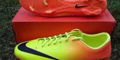 Nike Mercurial Victory IV TF Sepatu Futsal - Volt/Black/Bright Citrus