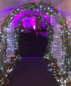Handbuilt and decorated archways for entrance way to an enchanted ball Enchanted Forest Quinceanera Theme, Enchanted Forrest Wedding, Enchanted Forest Prom, Enchanted Forest Decorations, Sweet 16 Themes, Sweet 16 Decorations, Quince Decorations, Quince Themes, Quince Ideas