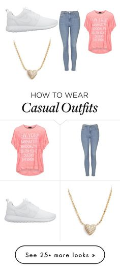 """""""casual outfit"""" by shalena-ht on Polyvore featuring Replace, Topshop, NIKE, Nadri, women's clothing, women, female, woman, misses and juniors"""