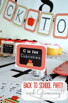 Throw a Back to School Party and a Party Package Giveaway!!