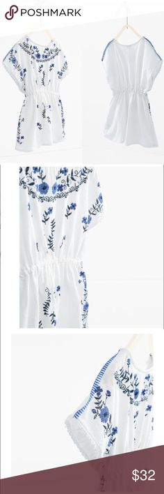 Kaftan Zara Girls Crisp and cool! Stylish as always and versatile as a kaftan, dress or even a beach coverup. Can wear through multiple stages as your little one grows! Tag reads 13-14 Zara Dresses Casual