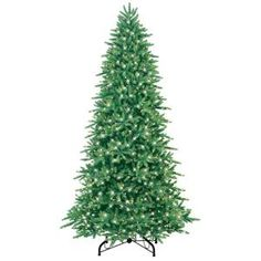 GE, 9 ft. Pre-Lit Just Cut Natural Green Frasier Artificial Christmas Tree with Clear Lights, 01968HD at The Home Depot - Mobile