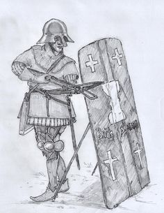 Hussite crossbowman with pavise by RyanRyzzo.deviantart.com on @DeviantArt