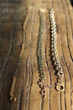 Reclaimed metal bracelets