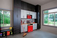 Garage floor to ceiling cabinets