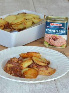 The Crazy Kitchen: Princes Corned Beef Hash Hotpot Canned Corned Beef Recipe, Corned Beef Pie, Pork And Beef Recipe, Corned Beef Recipes, Smores Dessert, Dessert Dips, Uk Recipes, Meat Recipes, Cooking Recipes