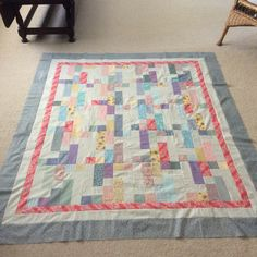 Cozy Quilt design  Side Steps quilt made by Sharon Theriault