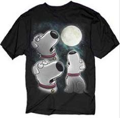 Family Guy Brian Howling At The Moon T-Shirt