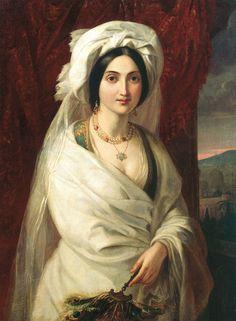 Apollon Mokritsky - Woman's Portrait (1841)