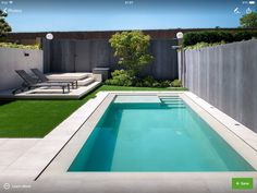 The presence of a swimming pool in a house is not only a compliment. More than that, the swimming pool is also a means for its owners to unwind. If you want to bring a swimming pool at home, no nee… Small Swimming Pools, Small Backyard Pools, Backyard Pool Designs, Small Pools, Swimming Pools Backyard, Swimming Pool Designs, Pool Landscaping, Patio Design, Backyard Patio