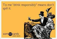 Drinking funny